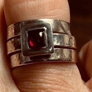Silpada 3 piece ring set
